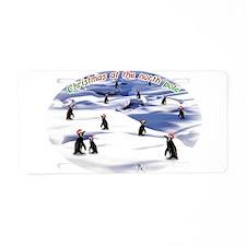 Chimp Christmas Aluminum License Plate