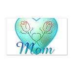 Mom Heart (blue) 22x14 Wall Peel