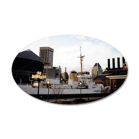 Baltimore Harbor 38.5 x 24.5 Oval Wall Peel