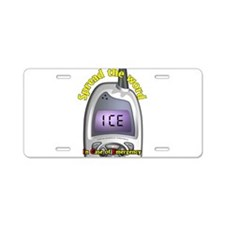 ICE- Case of Emergency Aluminum License Plate