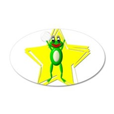 Girls Volleyball Frog 22x14 Oval Wall Peel