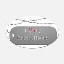 Dogtag- Basset Hound 22x14 Oval Wall Peel