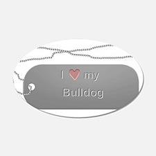 Dogtag- Bulldog 22x14 Oval Wall Peel