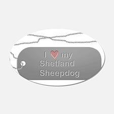 Dogtag- Shetland Sheepdog 22x14 Oval Wall Peel