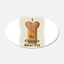 Love My Shar Pei (real) 22x14 Oval Wall Peel