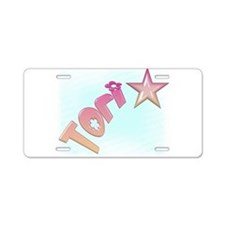 Tori Shooting Star Aluminum License Plate