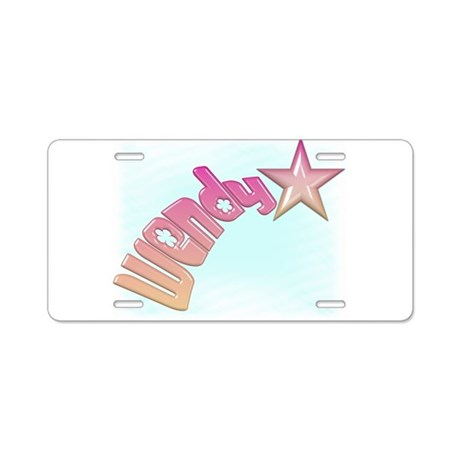 Wendy Shooting Star Aluminum License Plate