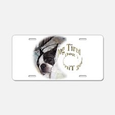 Sleeping Dog- Dog Tired 2 Aluminum License Plate