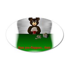 Sports Bear Poker 3 22x14 Oval Wall Peel