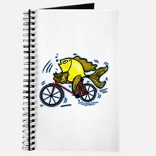 Bicycle Fish Funny Cartoon Journal