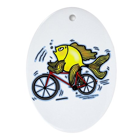 Bicycle Fish Ornament (Oval)