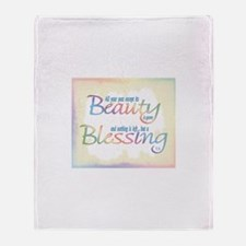 ACIM-Beauty & Blessing Throw Blanket