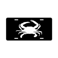 Crab SILHOUETTE Aluminum License Plate