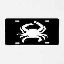 Crab SILHOUETTE Aluminum License Plate