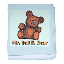 Mr Bear baby blanket