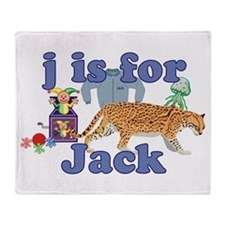 J is for Jack Throw Blanket