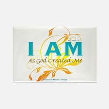ACIM-I Am As God Created Me Rectangle Magnet