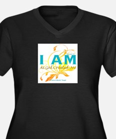 ACIM-I Am As God Created Me Women's Plus Size V-Ne
