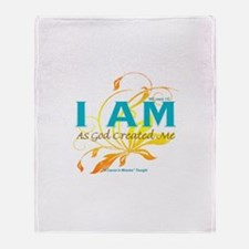 ACIM-I Am As God Created Me Throw Blanket