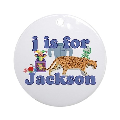 J is for Jackson Ornament (Round)