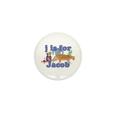J is for Jacob Mini Button (100 pack)