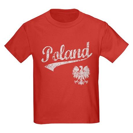 Poland Sport Style Kids Dark T-Shirt