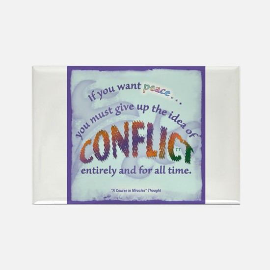 ACIM-If You Want Peace Rectangle Magnet (10 pack)