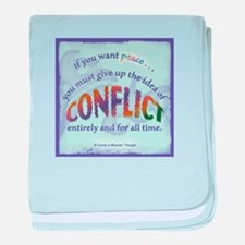 ACIM-If You Want Peace baby blanket