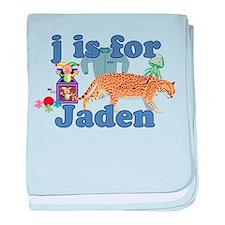 J is for Jaden baby blanket
