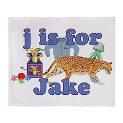 J is for Jake Throw Blanket