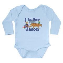 J is for Jason Long Sleeve Infant Bodysuit