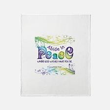 ACIM-Abide in Peace Throw Blanket