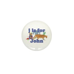 J is for John Mini Button (100 pack)