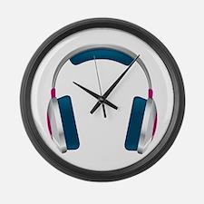 headphone Large Wall Clock