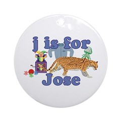 J is for Jose Ornament (Round)