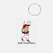 Personalized cute cartoon bas Keychains