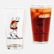 Personalized cute cartoon bas Drinking Glass