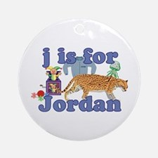 J is for Jordan Ornament (Round)