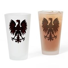 Polish Eagle red and black Pint Glass