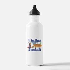J is for Josiah Water Bottle