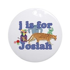 J is for Josiah Ornament (Round)