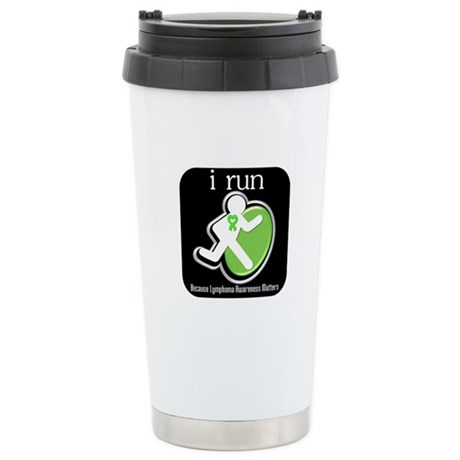 I Run Cancer Awareness Stainless Steel Travel Mug
