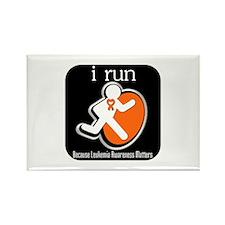 I Run Cancer Awareness Rectangle Magnet
