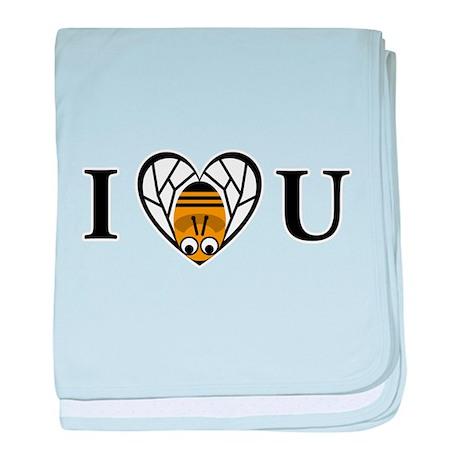I Love You (Bee) baby blanket