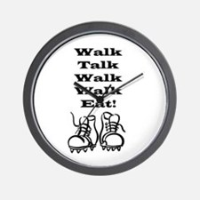 New Walk, Talk, Eat Wall Clock