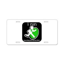 I Run Cancer Awareness Aluminum License Plate