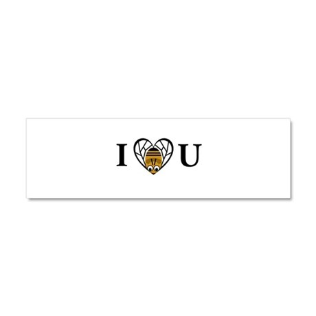 I Love You (Bee) Car Magnet 10 x 3