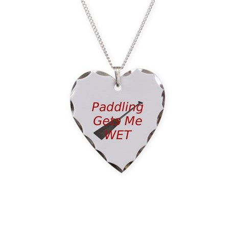 PaddlingGetsMeWet Necklace Heart Charm