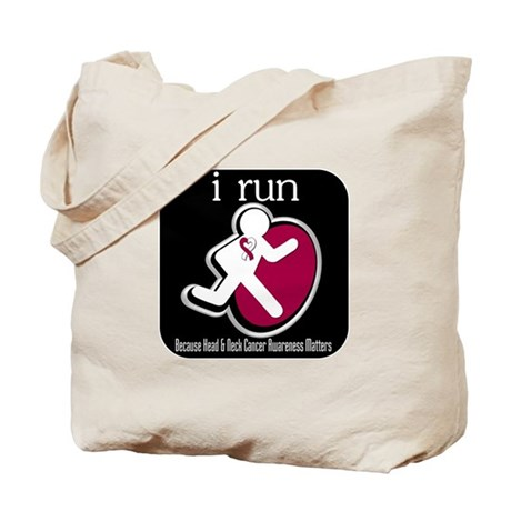I Run Cancer Awareness Tote Bag