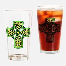Irish Celtic Cross Tattoo Drinking Glass